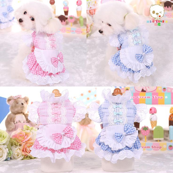 Funny Lovely Cat Pet Dog Cosplay Costumes Dog Coars Small Dogs Maid Suit Sweet Chien Cat Clothes Christmous Cats Prodect QQM1957