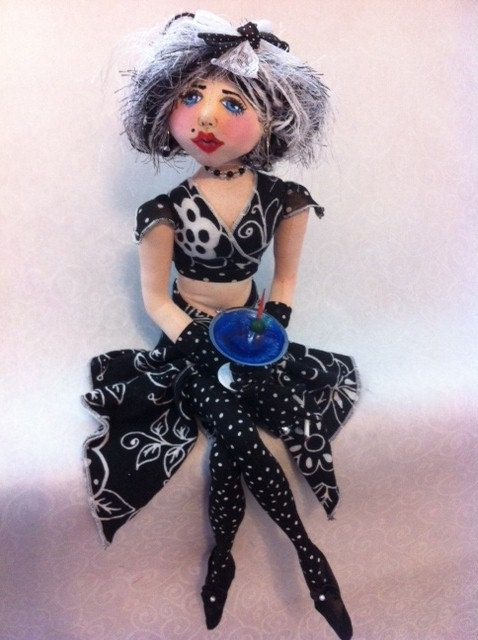 "Cloth Art Doll ""Natalie"""