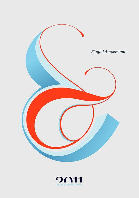 Playful Ampersand - Experimental Typography project by Moshik Nadav Typography | Flickr - Photo Sharing!