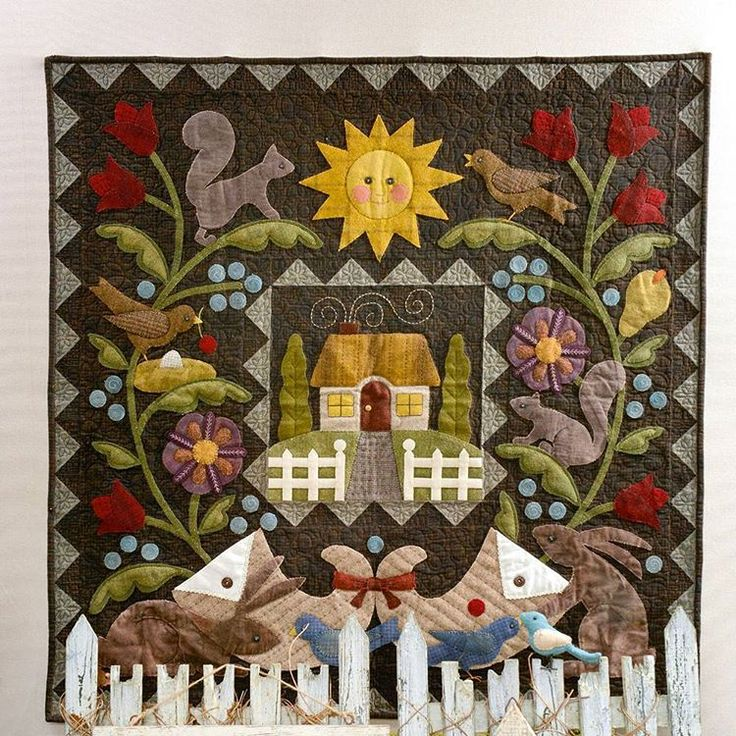 Home, quilt from Bonnie Sullivan 's new book. D-2 Home, un quilt du nouveau livre de Bonnie Sullivan. J-2 #quiltmania #bonniesullivan #newbook #nouveauté #livre #quilt #quilting #patchwork