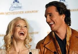 Kate Hudson & Matthew McConaughey  laughing
