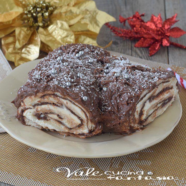 Ricetta Tronchetto Di Natale Per 10 Persone.Tronchetto Di Natale Senza Cottura Ricetta Facile E Veloce Natale
