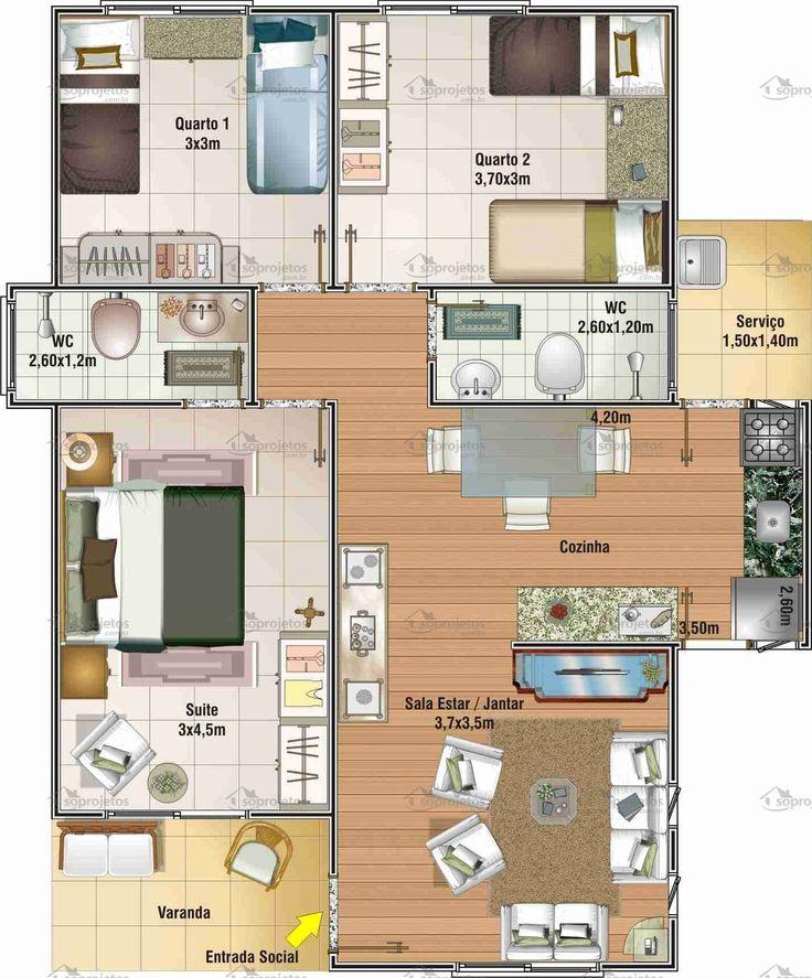 19 best plan maison images on Pinterest Small houses, Smallest