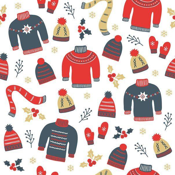 Зимний фон с одеждой.