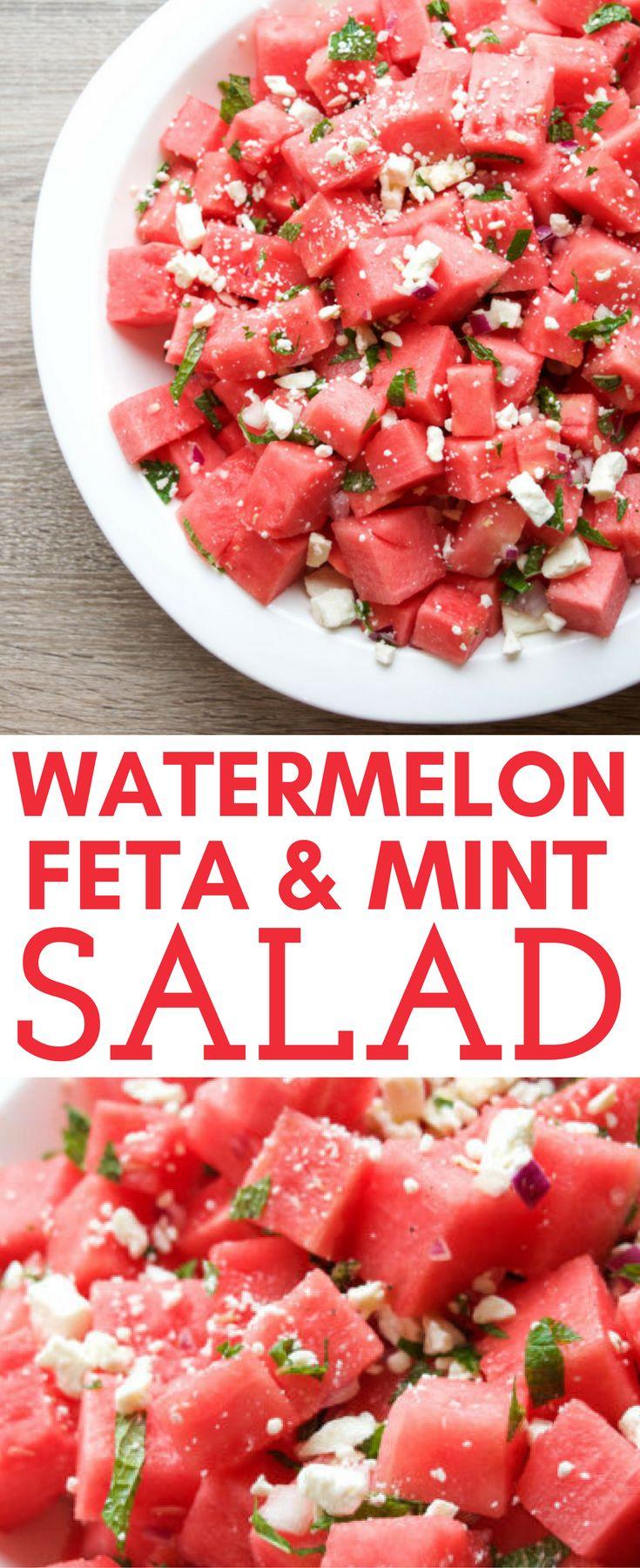 Watermelon, Feta and Mint Salad – Get Healthy U