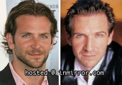 celebs that look alike bradley cooper and ralph fienns