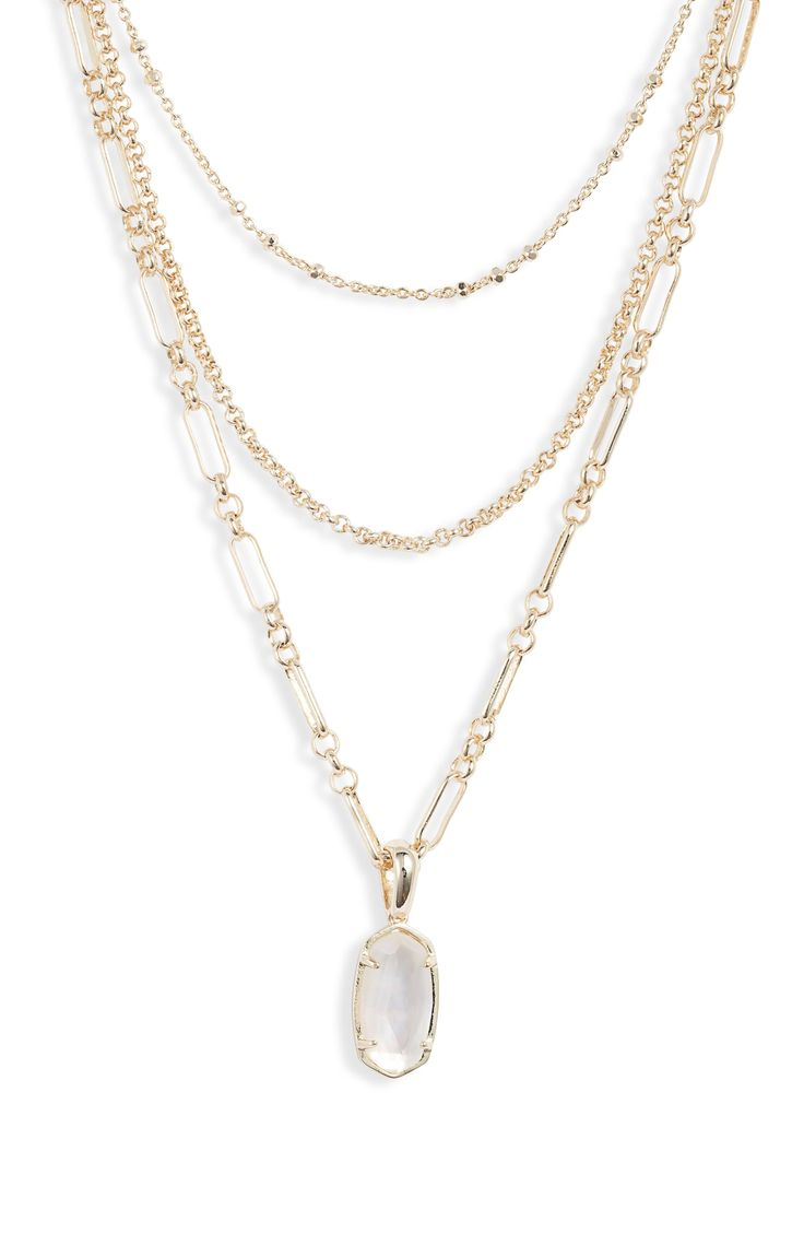 Ellie layered necklace layered necklaces kendra scott