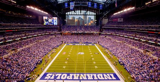 With a gorgeous view of the Indy skyline, Lucas Oil Stadium is a great venue for Colts football games, concerts, the Super Bowl, and the Final Four basketball tourneys!
