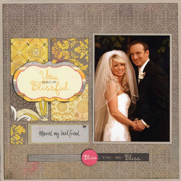 17 best images about scrapbook pages wedding on pinterest a project scrapbook page layouts - Scrapbooking idees pages ...