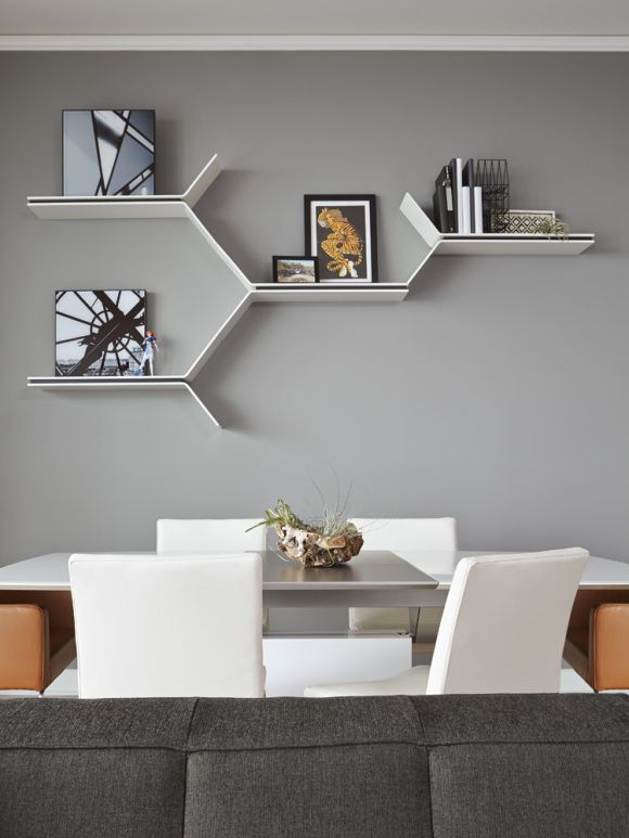 BoConcept Expanding dining table, Mariposa Delight chairs & shelves