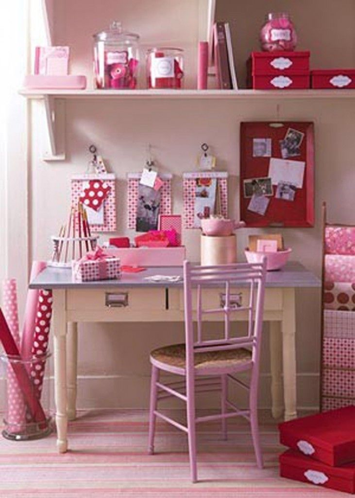 pink home office design idea. pink home office at awesome colorful design ideas idea k