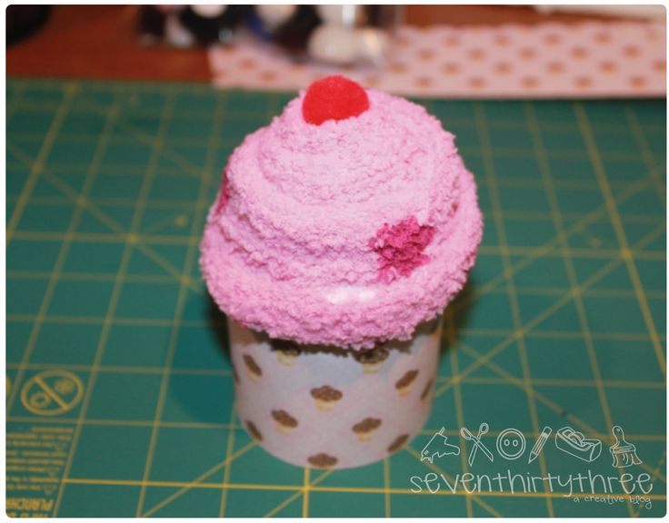 sock cupcake photo tutorial ~ diy ~ great party favor for tween birthday ~ seven thirty three - - - a creative blog