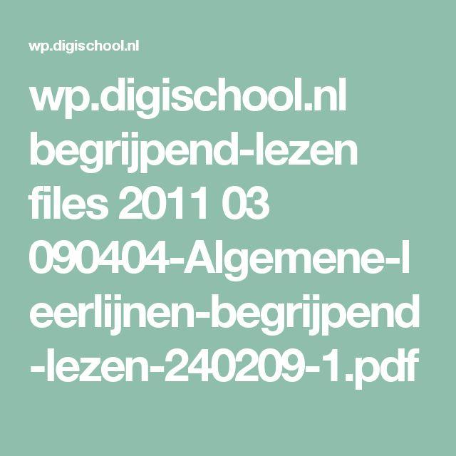 wp.digischool.nl begrijpend-lezen files 2011 03 090404-Algemene-leerlijnen-begrijpend-lezen-240209-1.pdf