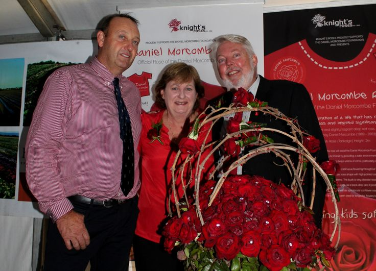 Daniel Knight with Denise and Bruce Morcombe at the Launch of the Daniel Morcombe Rose