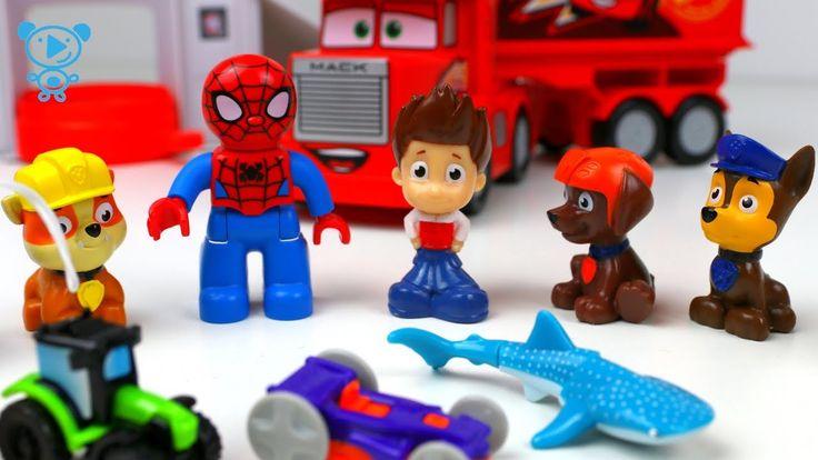 Paw Patrol & Spiderman Spielzeug Cartoon - Paw Patrol & Spiderman öffnen...