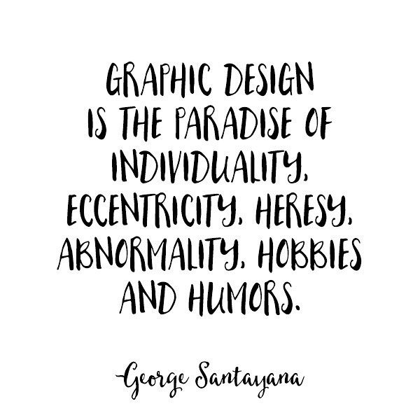 The paradise of individuality. #designquotes