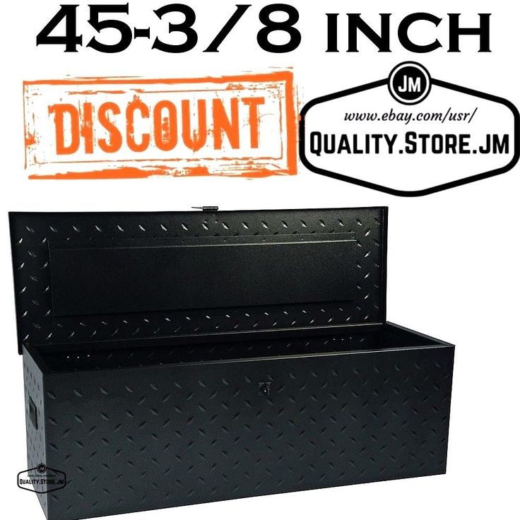 Truck Tool Box Black Diamond Plate Bed Boxes For Pickup Trucks Organizer Storage #InternationalToolStorage