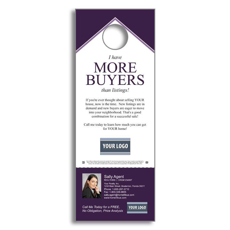 9 best Doorhangers images on Pinterest Real estate marketing, Door