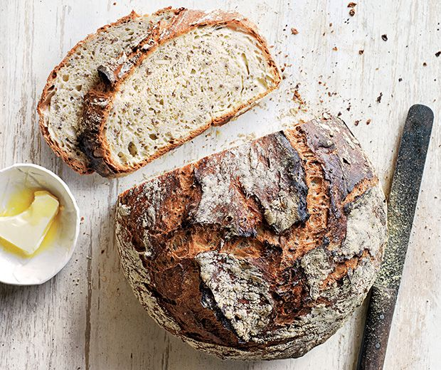 Donna Hay's No-Knead Seeded Morning Bread