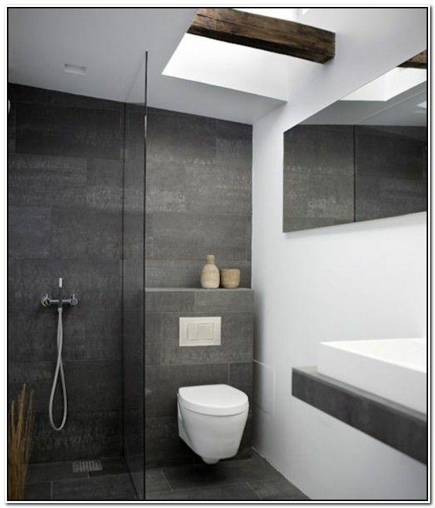 die besten 25+ grau weißes badezimmer ideen auf pinterest, Badezimmer dekoo