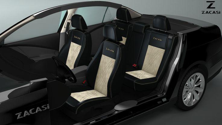 Now you are the designer! #zacasi # carinterior #blackbeige #leatherimitation #seatstyler #seatcover #configurator #design #designer #interior #carinterior #audi #bmw #ford #mercedes #gold #volkswagen #vw #mini #peugeot