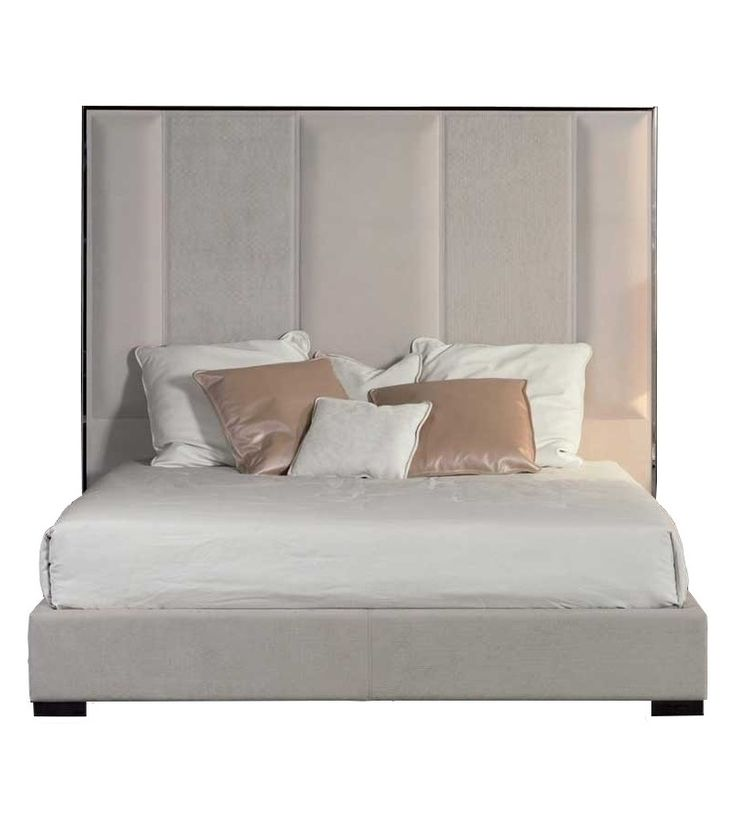 Stripe Bed With High Headboard Rugiano