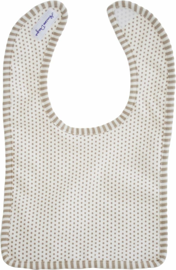 Bib - Natural Cream Coco - Sweet neutral bib to match Coco Naturals Range.