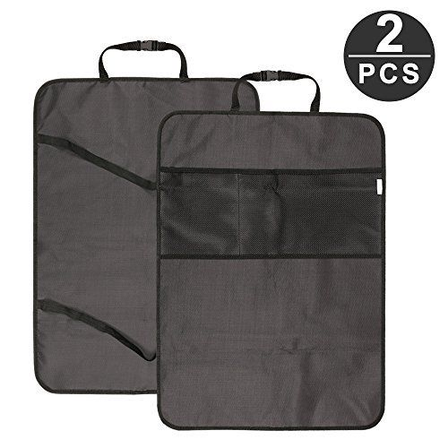[2 Pcs] Topist Protection de Siège Voiture, Protecteur de Dossier et Organisateur de Voiture avec 2 Grande Poches en Maille, Anti Klick…