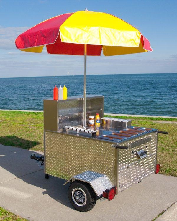 My dream job a hot dog cart at the beach!