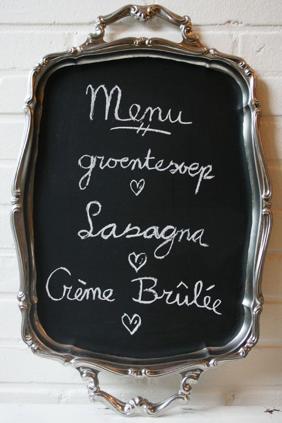 DIY - Vintage serving tray chalkboard