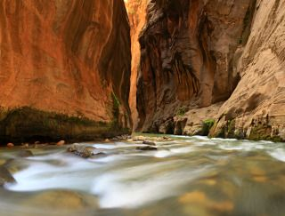 The Narrows, Zion National Park  I learned about hiking The Narrows in a travel brochure more than a decade ago. Never forgotten it.
