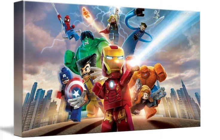 Lego Marvel Superheroes Wall Decor Framed Canvas Wall Art Huge Print A1