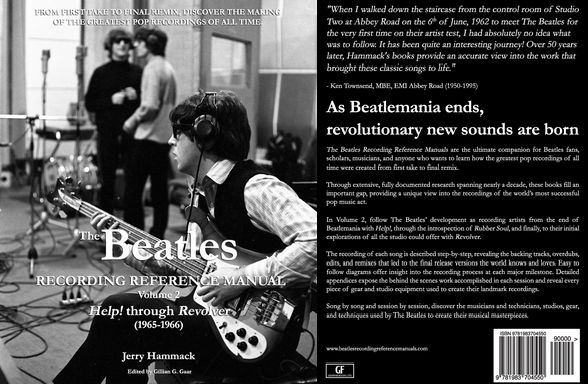 #THEBEATLES RECORDING REFERENCE MANUALS' VOLUME 2: HELP! THROUGH REVOLVER(1965-1966) Paperback – FEB, 2018 by Jerry Hammack (Author), Gillian G.Gaar(Editor) IS NOW AVAILABLE WORLDWIDE THROUGH AMAZON: https://www.amazon.com/gp/product/1983704555?ie=UTF8&tag=bm05b-20&camp=1789&linkCode=xm2&creativeASIN=1983704555