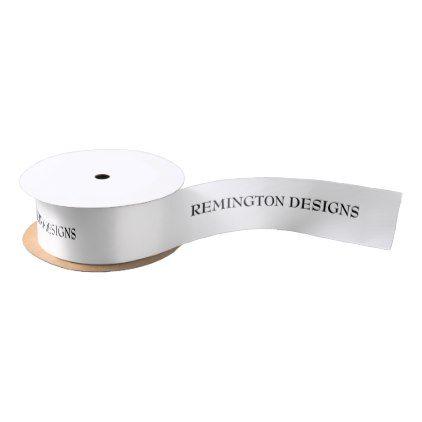 "Personalized 1.5"" Classic White ribbon - anniversary cyo diy gift idea presents party celebration"
