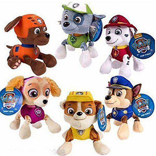 """Hot Paw Patrol Plush Pup Pals 5"""" Skye ZUMA ROCKY Soft Plu…"""