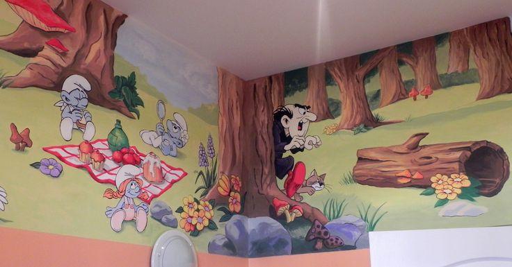 Decorazioni murali dipinti a mano, pittura artistica su parete. @portfoliobox