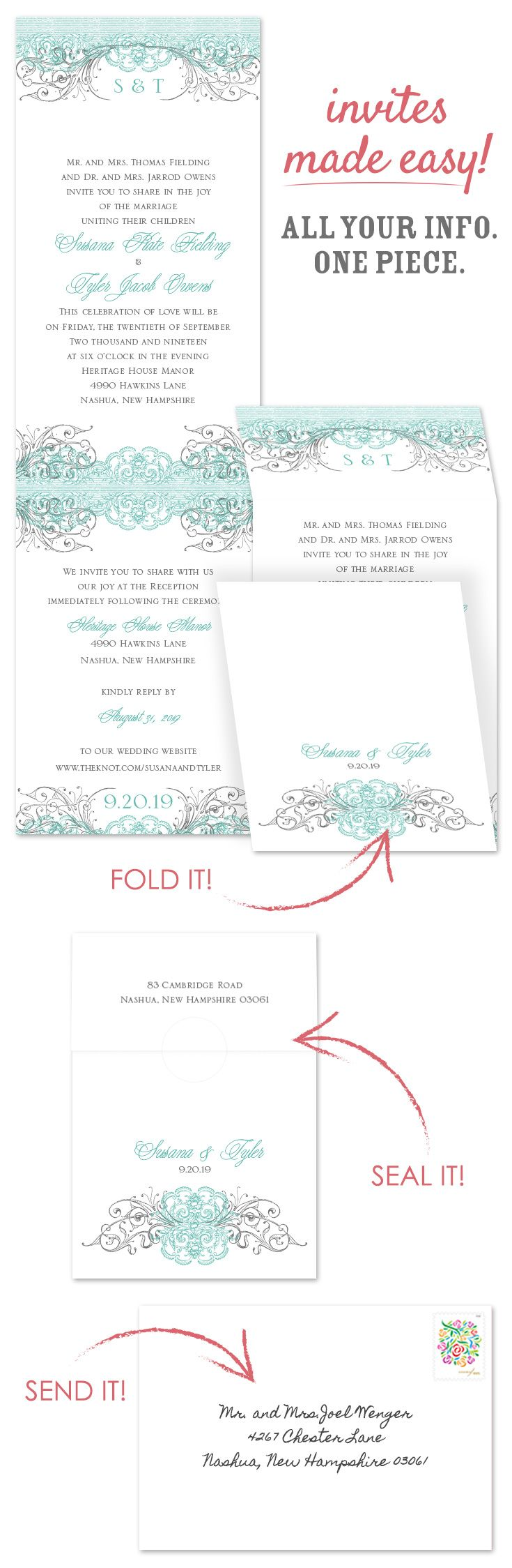 Wedding All In One Wedding Invitations 17 best images about affordable wedding invitations on pinterest beyond beautiful invitation with online reply in one piecewedding stationerywedding invitationsall