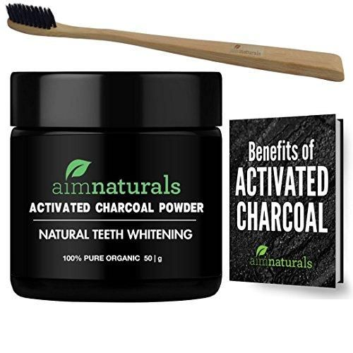 Natural Teeth Whitening Activated Charcoal Powder The Benefits of aimnaturals All Organic Activated Charcoal Powder ✔Whiter teeth ✔Food Grade ✔Healthier gums ✔Removes tea & coffee stains ✔Reduces plaque ✔Fights bacteria & fungus ✔Cleaner mouth ✔100% Natural ✔Gluten-free, alcohol-free & vegan friendly ✔Easy to use ✔Fast acting