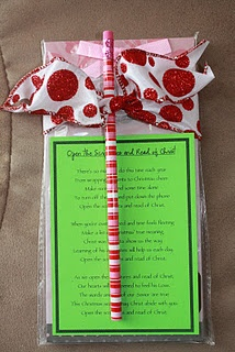 Visiting Teaching Christmas Gift. Poem- Open the Scriptures and Read of Christ