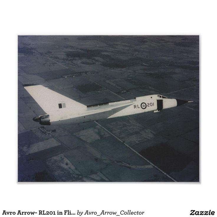 Avro Arrow- RL201 in Flight Poster