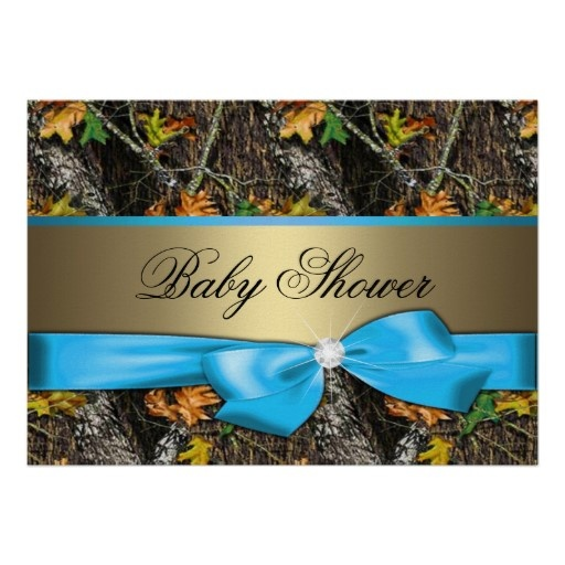 Super cute Blue - Camo Baby Boy Shower Invitation from Zazzle.com. It's $1.50 each, but think I could make own. Tiff's baby shower?
