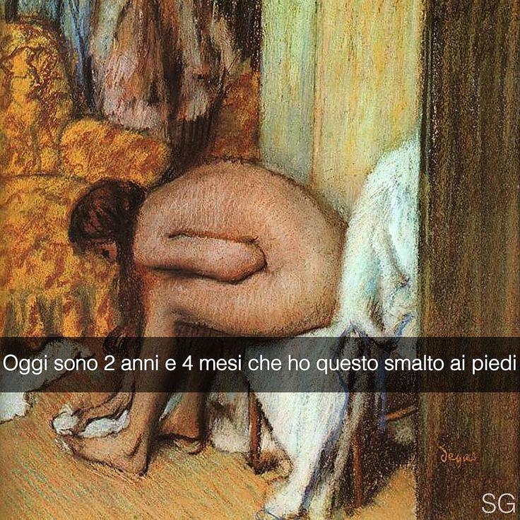 Snapchat: stefanoguerrera Donna che si asciuga il piede - Edgar Degas (1886) #seiquadripotesseroparlare #stefanoguerrera