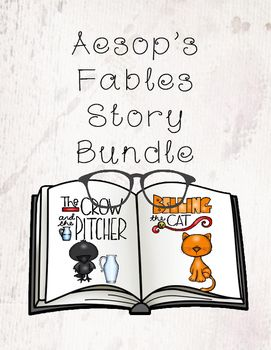 Aesop's Fables Story Bundle is a product that highlights 10 fables that help teach students morals and how they can relate to things in their life.This product includes a 10 fable story book that can be bound together and included a cover page and covers for each story. Also included is a cut and paste worksheet set for students to match the story to the moral, name that character worksheet set, 10 draw and write story summery pages, 2 file folders, 2 piece image match ups, 10 coloring…