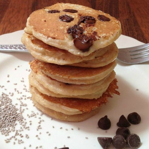 DELICIOUS recipe for you to try, Chia Choc Chip Pancakes. Perfect for a healthy weekend brunch that everyone, especially the kids will love.