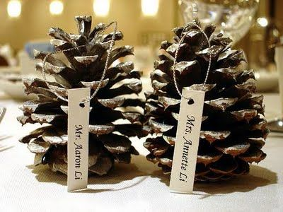 another cute place card idea. #winterwedding