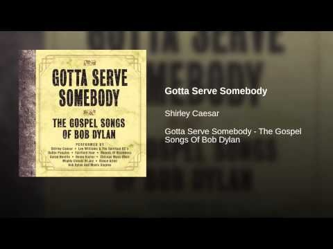 "(Song of the day Apr 2) Shirley Caesar - Gotta Serve Somebody. ""'Lord, when did we see you hungry and feed you, or thirsty and give you something to drink? When did we see you a stranger and take you in, or naked and clothe you? When did we see you sick or in prison and visit you?' And the King will reply, 'Truly I tell you, whatever you did for one of the least of these brothers of mine, you did for me.'"" --The Lord-- Matthew 25:37-40 Sunday song of the day for take-care-of-each-other week."