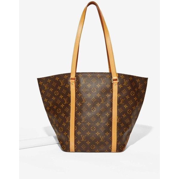 Vintage Louis Vuitton Monogram Sac Shopping Tote Bag ($1,350) ❤ liked on Polyvore featuring bags, handbags, tote bags, leather shopper tote, monogrammed leather tote, louis vuitton purses, leather tote bags and louis vuitton tote