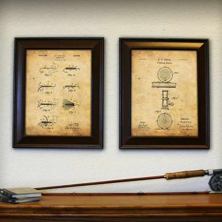 Personal-Prints \'\'Fly Fishing\'\' 2-piece Framed Wall Art Set   Framed ...