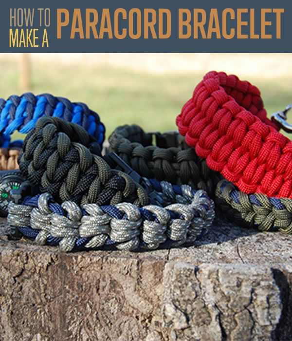 How to make paracord bracelets our favorite paracord for Things you can do with paracord