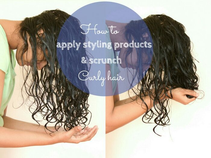 Scrunching is the technique of taking your hair in your palms in sections and crumpling it like you crumple a paper into a ball. This encourages curl definition and adds bounce to curls.